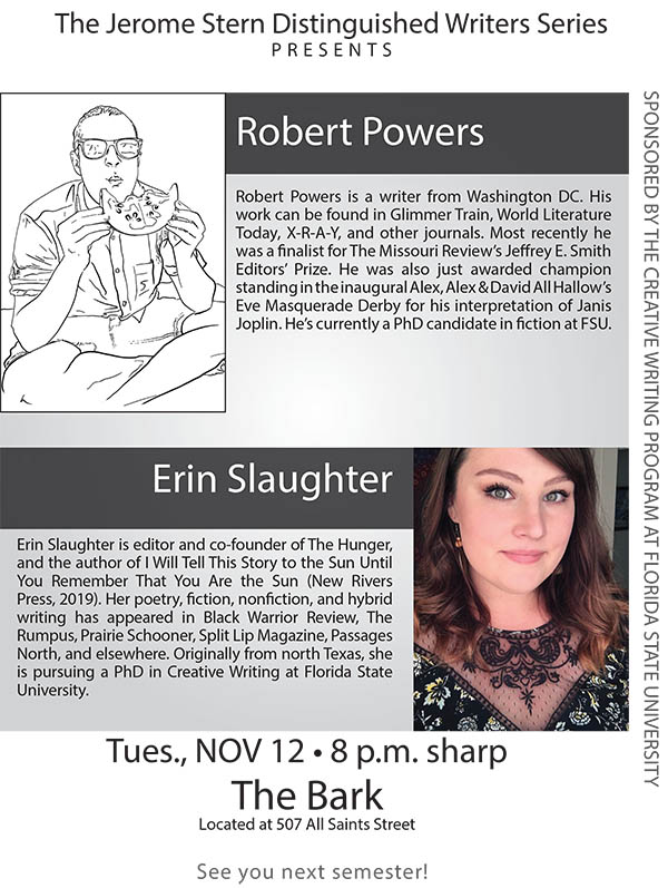 Fall 2019 The Jerome Stern Reading Series